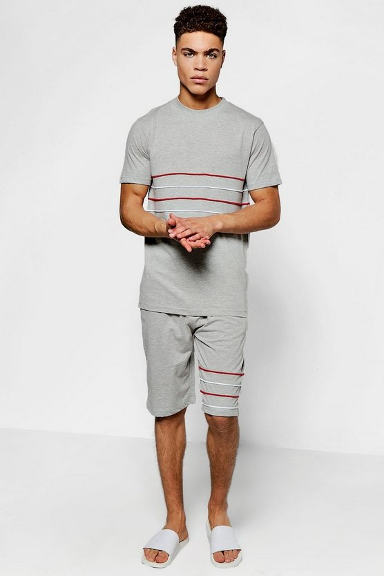 Stripe T-Shirt And Short Set