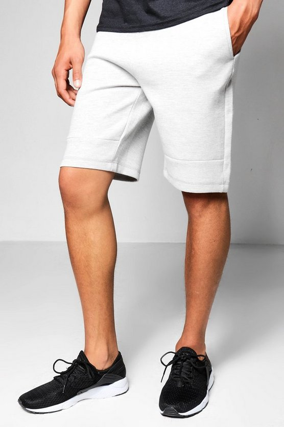 Mid Length Jersey Shorts With Sports Zip