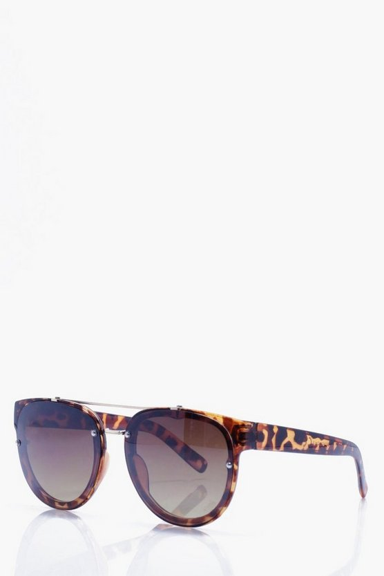 Tailored Brown Round Lense Sunglasses