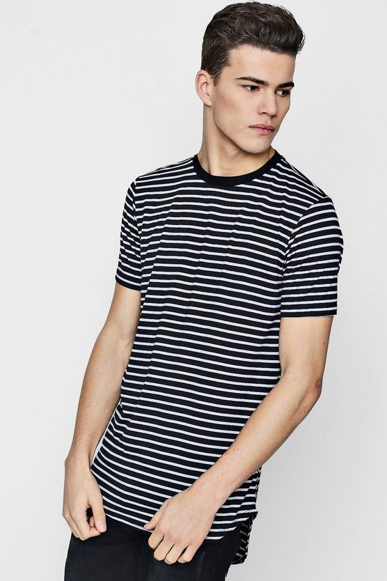 Curved Stepped Hem T-Shirt