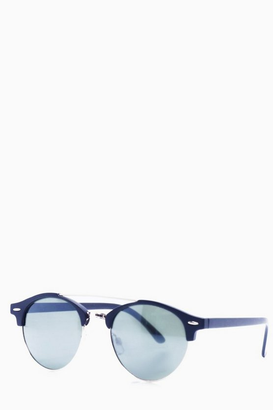 Matte Black Clubmaster Sunglasses