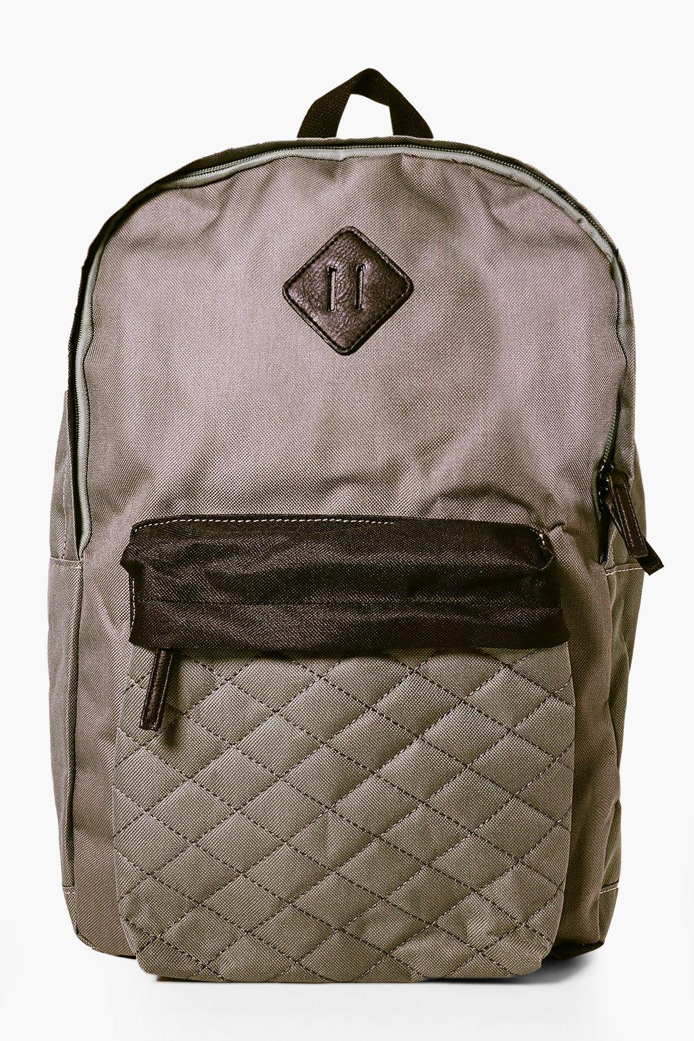 Panel Backpack - grey - Quilted Panel Backpack - g