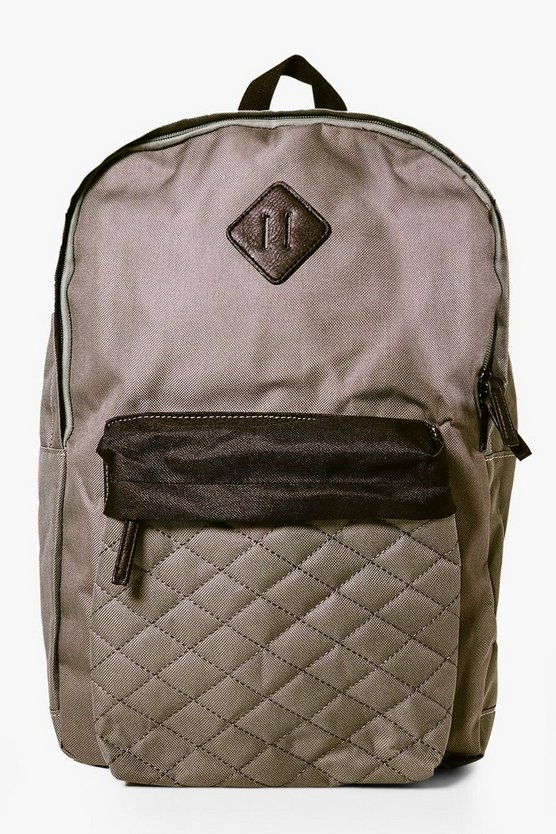 Quilted Panel Backpack