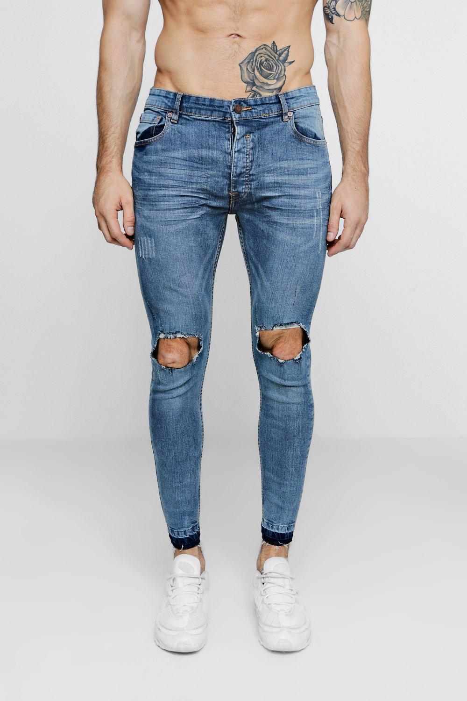 Jeans homme troue