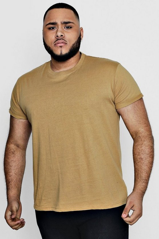 Big And Tall T-Shirt with Rolled Sleeves