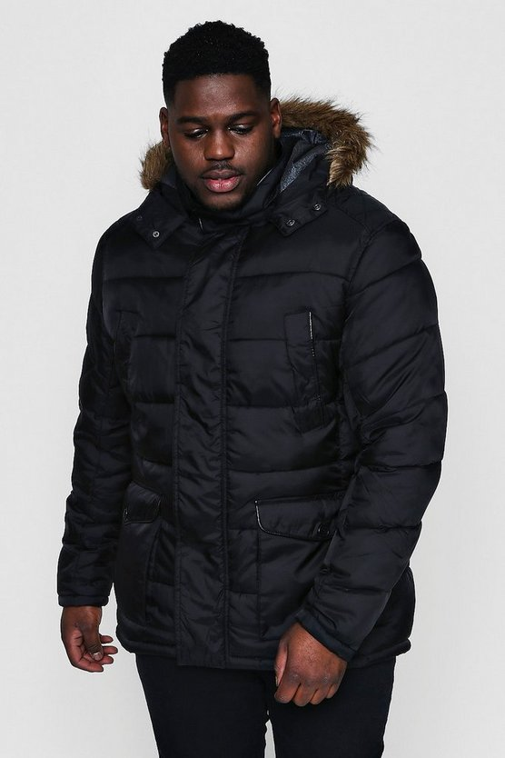 Big And Tall Padded Parka Jacket