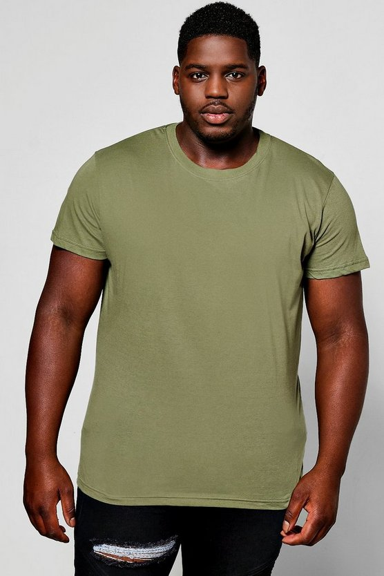 Big And Tall Longline Basic T-Shirt
