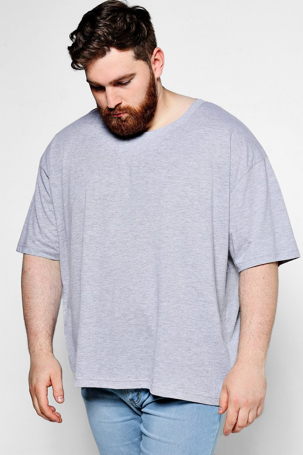 Big And Tall Oversized Back Zip T-Shirt