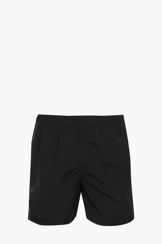 Black Plain Swim Short