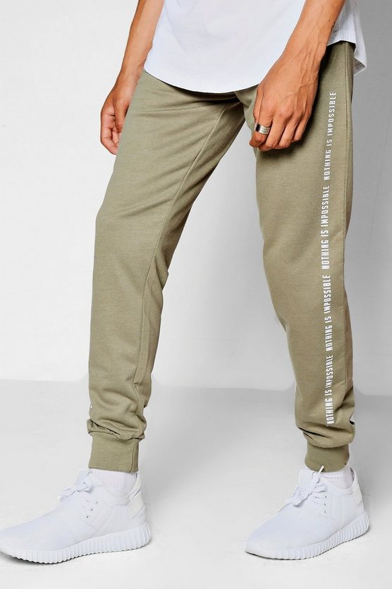 Super Skinny Jogger With Text Print