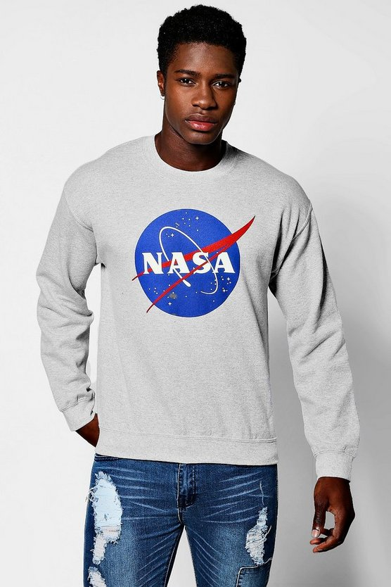 Nasa Print Crew Neck Sweater
