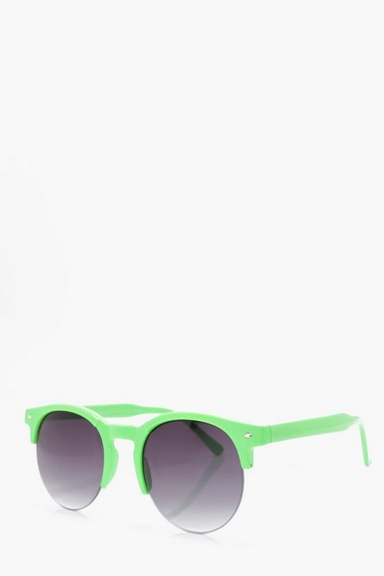 Green Clubmaster Sunglasses