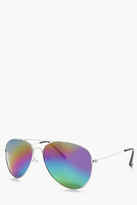 Rainbow Lense Aviator Sunglasses