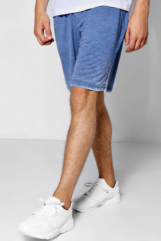 Wide Fit Burn Out Jersey Shorts