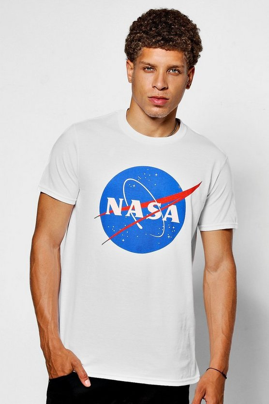 NASA Space Station Print T-Shirt