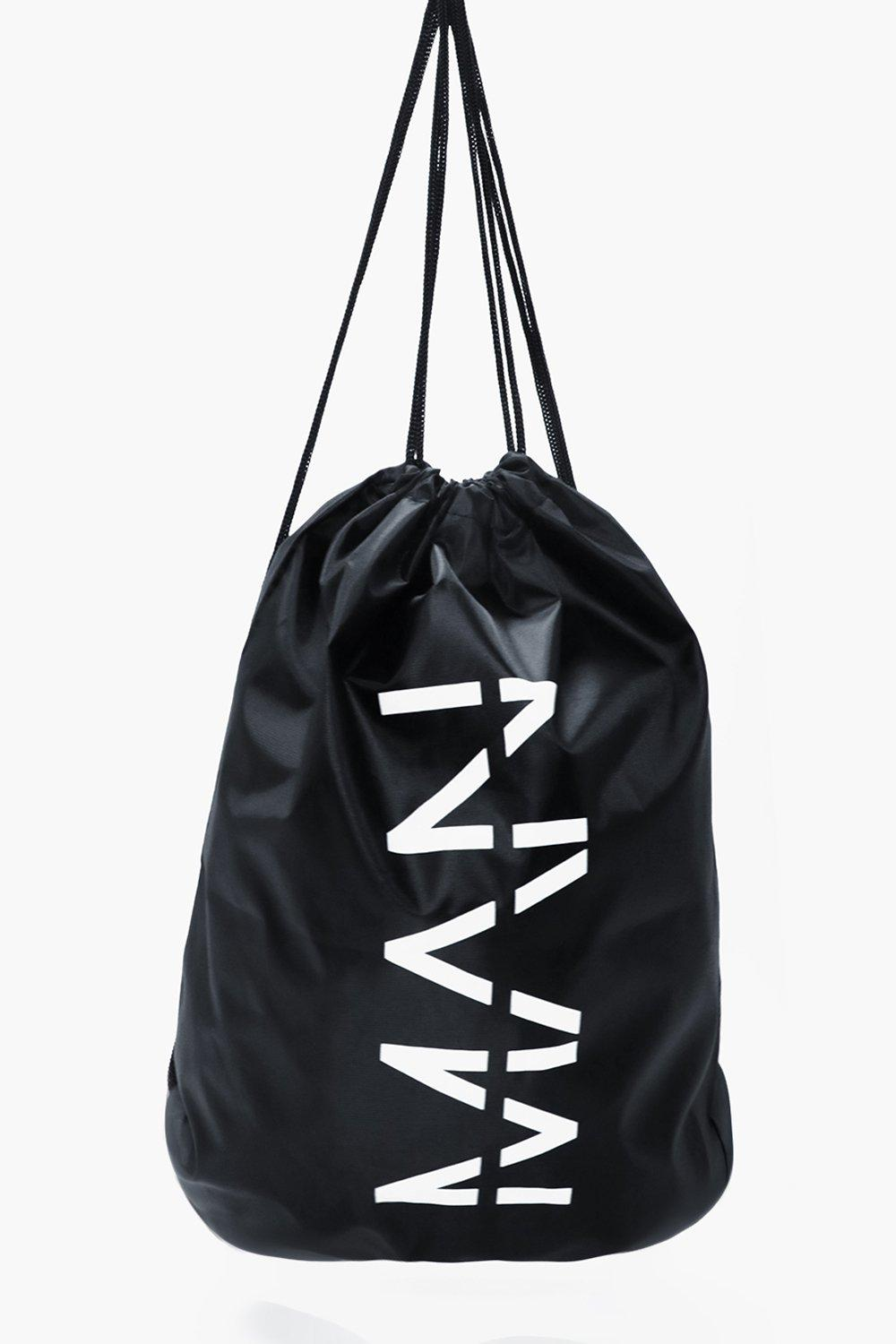 MAN Drawstring Bag - black - Black MAN Drawstring