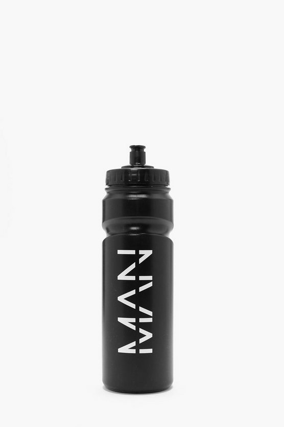 Black BoohooMAN 750ml Water Bottle