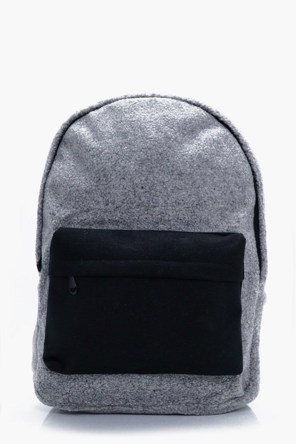 Back Pack With Contrast  Pocket - charcoal - Borg