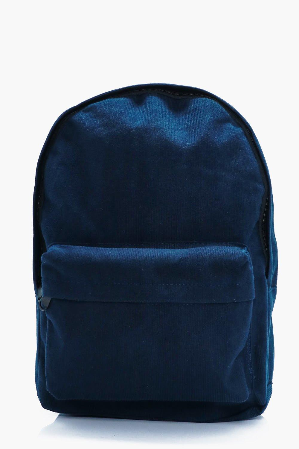 Back to School Backpack - navy - Corduroy Back to