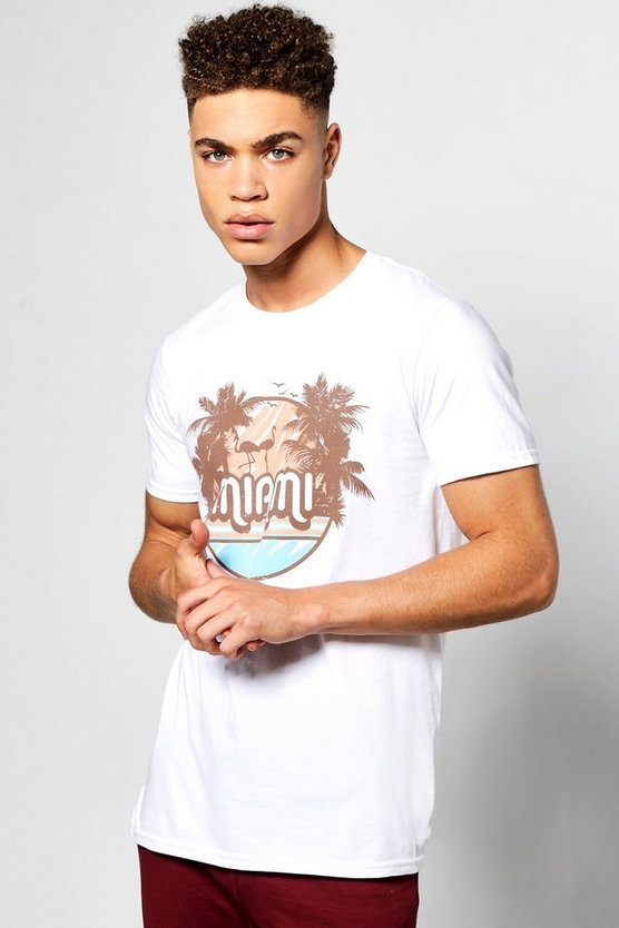 Miami Palm Print T-Shirt