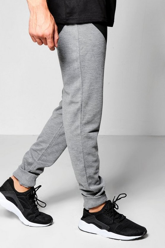 Skinny Fit Chevron Panel Joggers