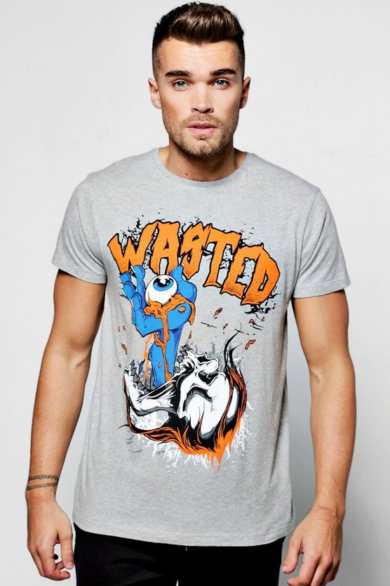 Wasted Print T Shirt