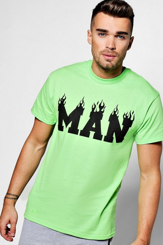 MAN Flame T Shirt