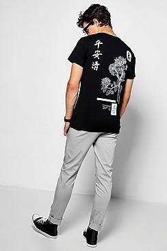 Oriental Back Print T Shirt