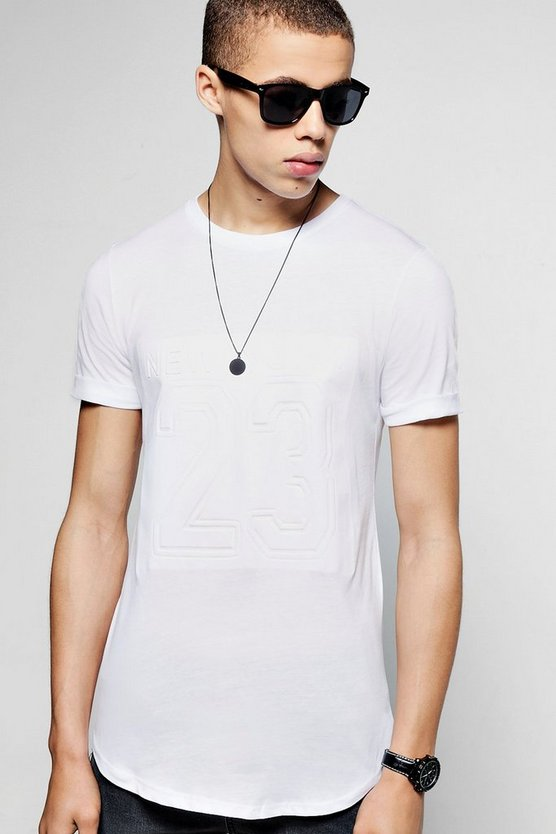 Short Sleeve New York  Curved Hem T-Shirt
