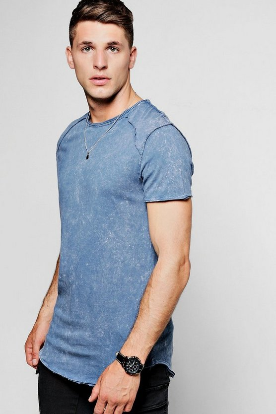 Short Sleeve Expose Seam Burnout T-Shirt