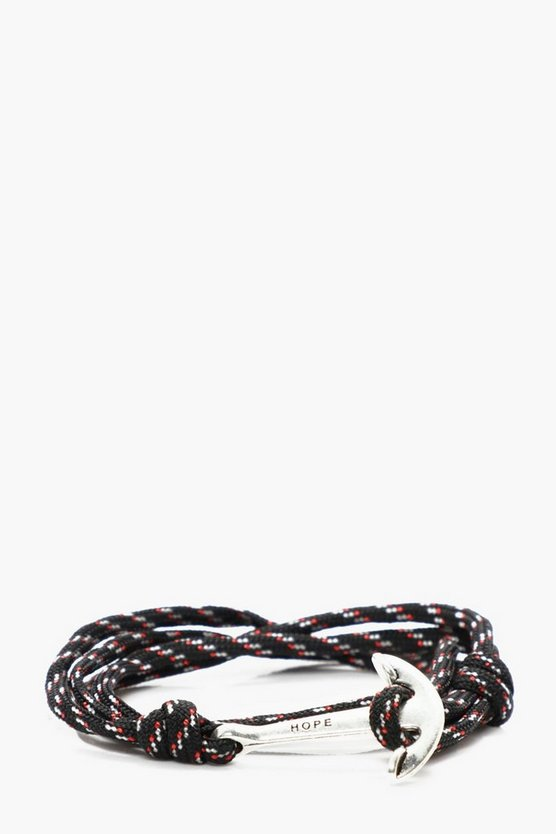 Multi Colour Rope & Anchor Bracelet
