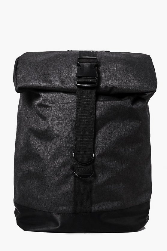 Black Roll Up Backpack