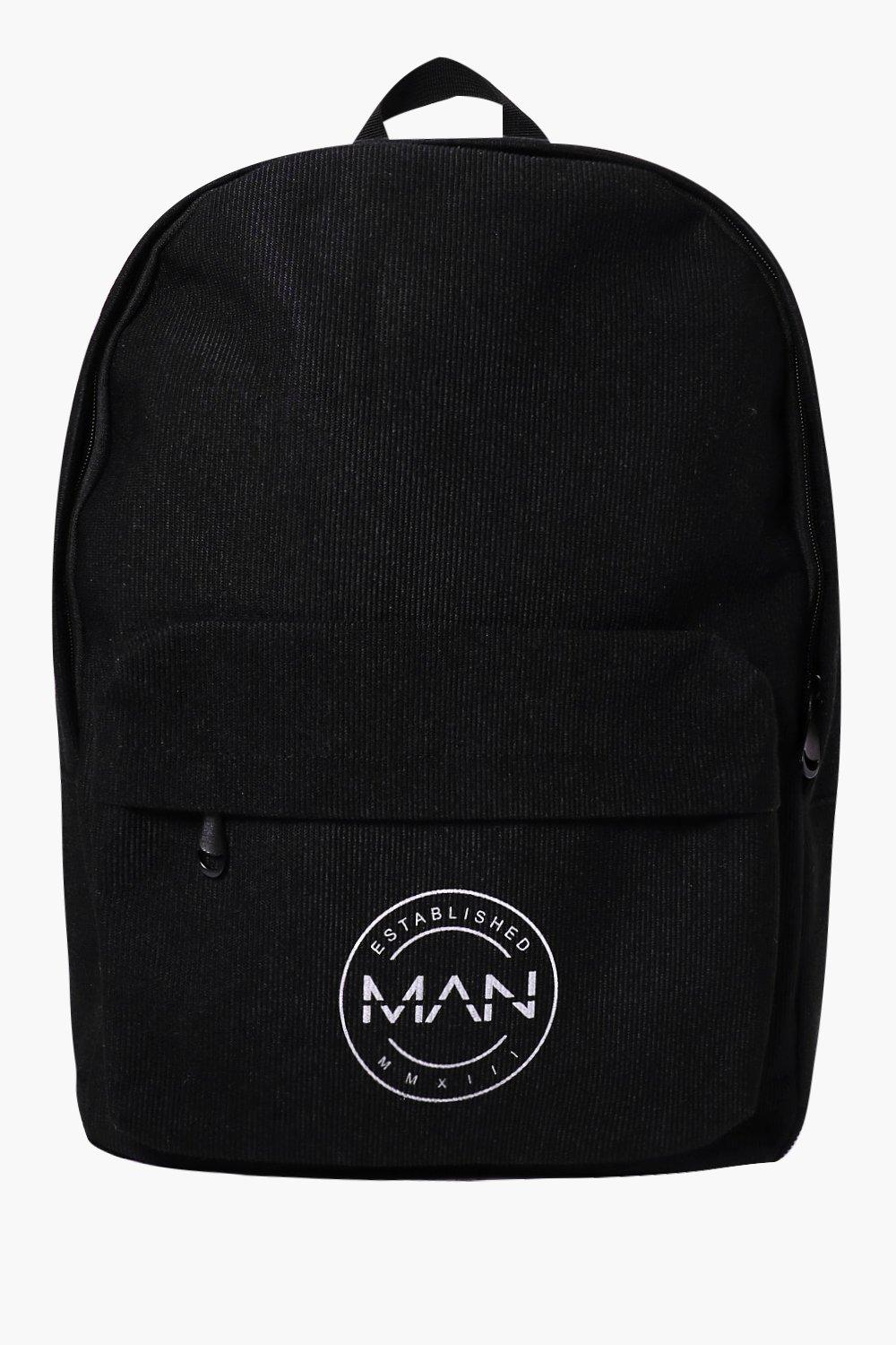 Backpack with Man Logo - black - Black Backpack wi