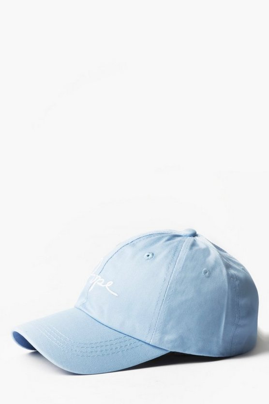 Blue Dope Embroidered Cap
