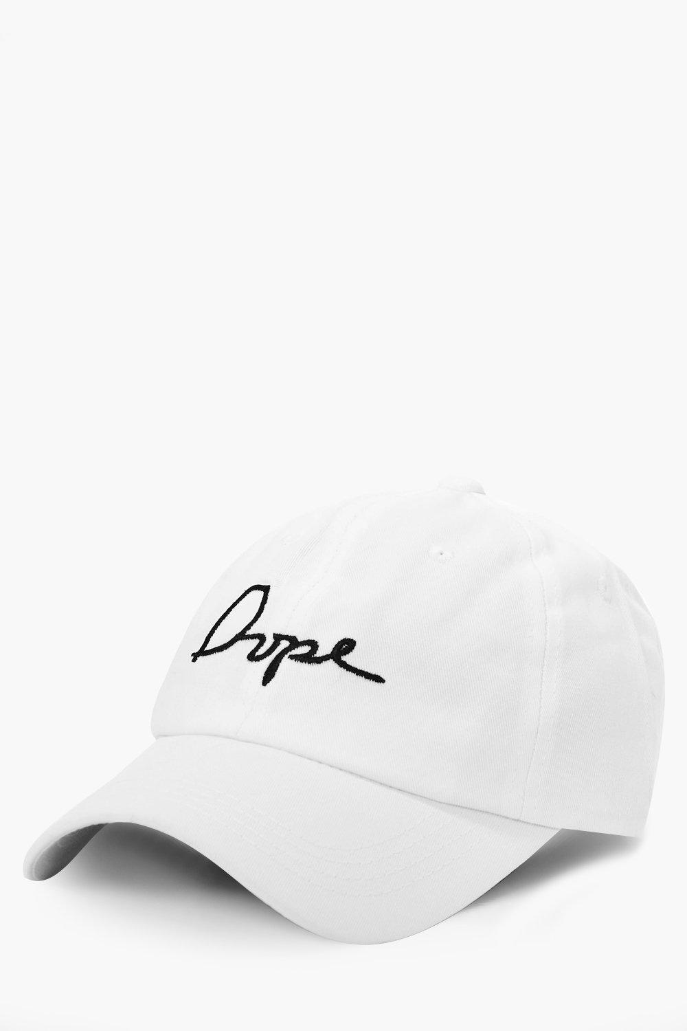 Dope Embroidered Cap - white - White Dope Embroide