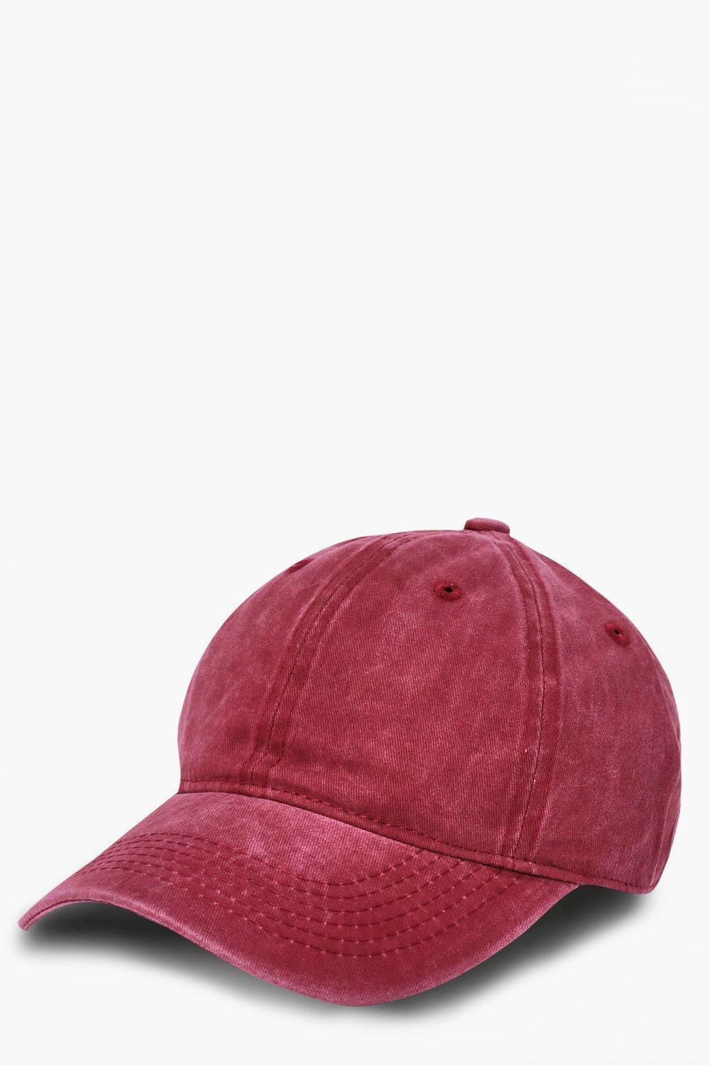 Washed Cap - red - Red Washed Cap - red