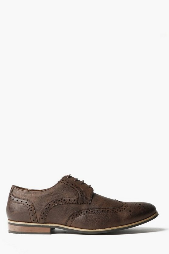 Brown Brogues with Perforated Detailing