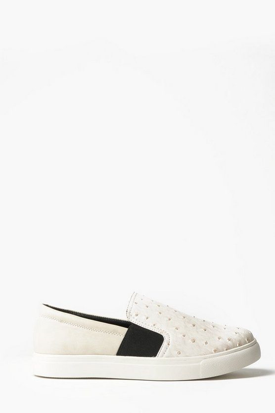 Textured Slip On Trainers