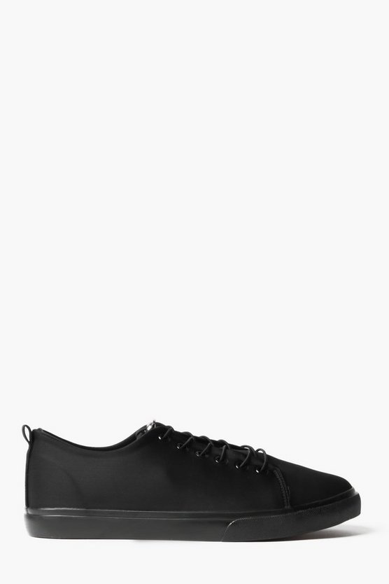 Lace Up Trainers with Toggle Fastening