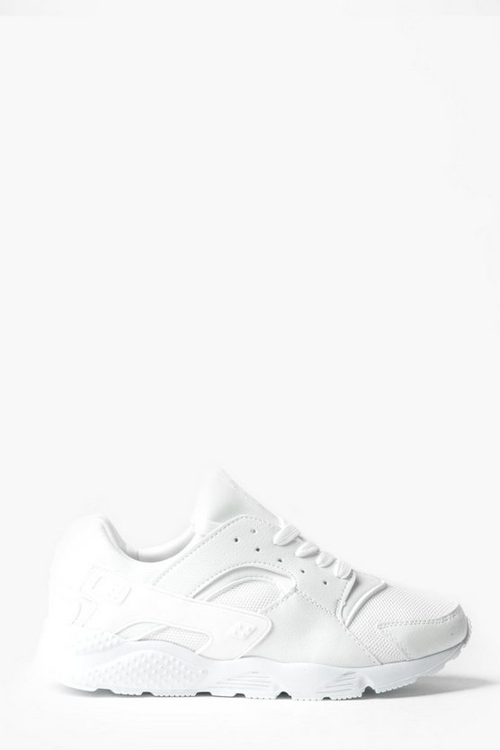 Lace Up Running Trainers with Heel Detail