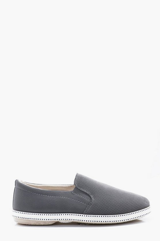 Perforated Slip-On Plimsol