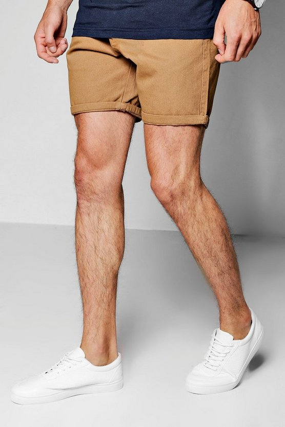 Peached Mid Length Chino Shorts