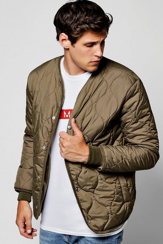 Khaki Onion Quilted Jacket
