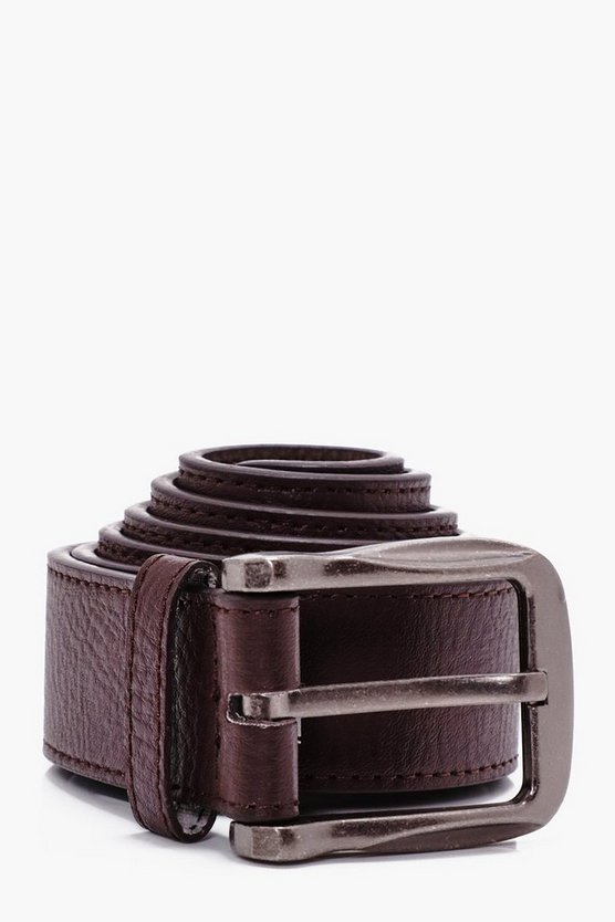 Big And Tall Brown PU Belt