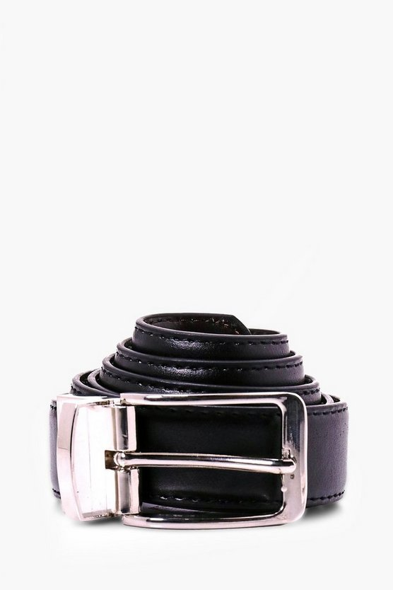 Reversible Belt With Chrome Buckle