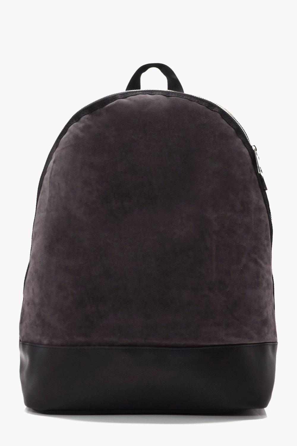 Suedette Back Pack - grey - Lux Suedette Back Pack