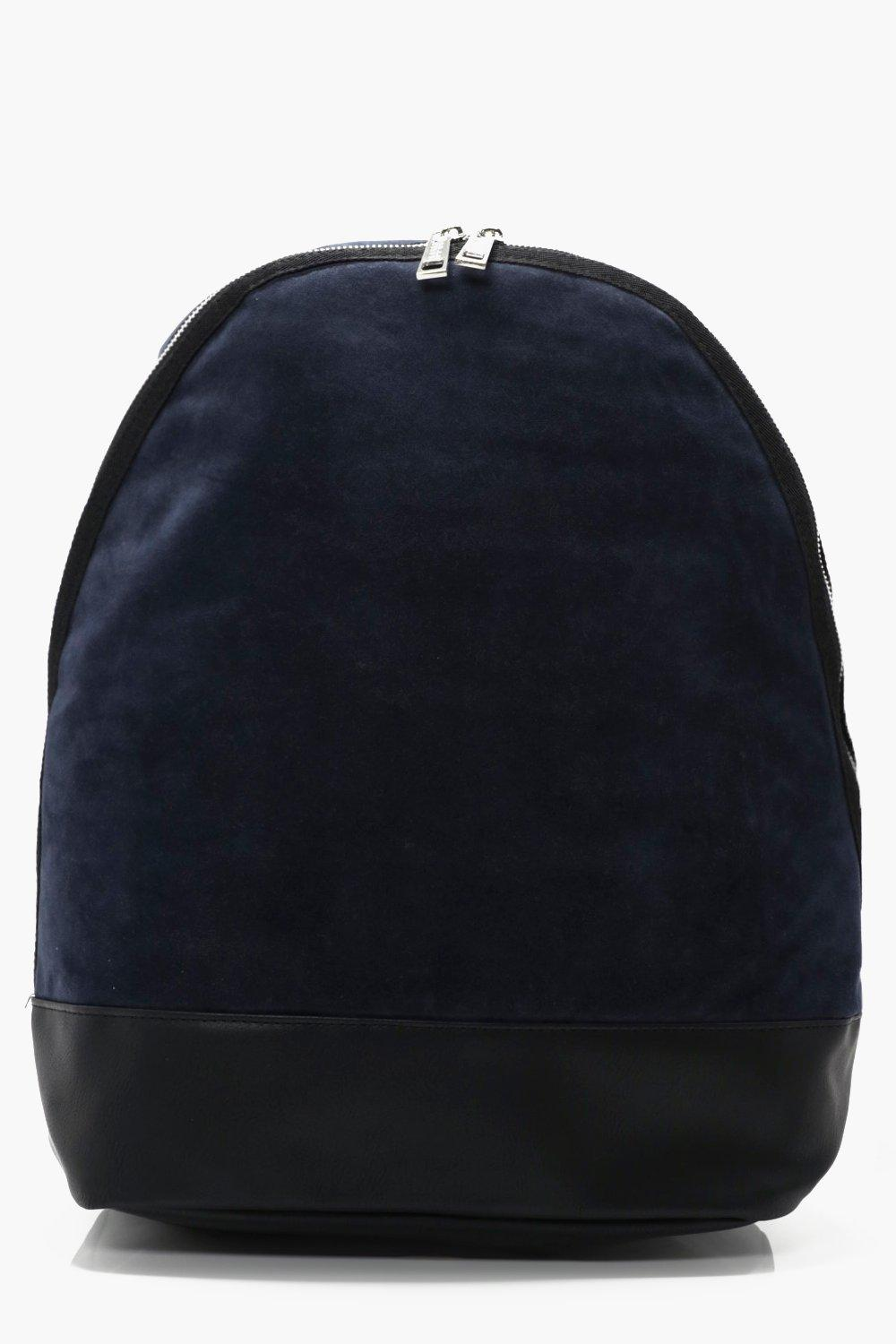 Suedette Back Pack - navy - Lux Suedette Back Pack