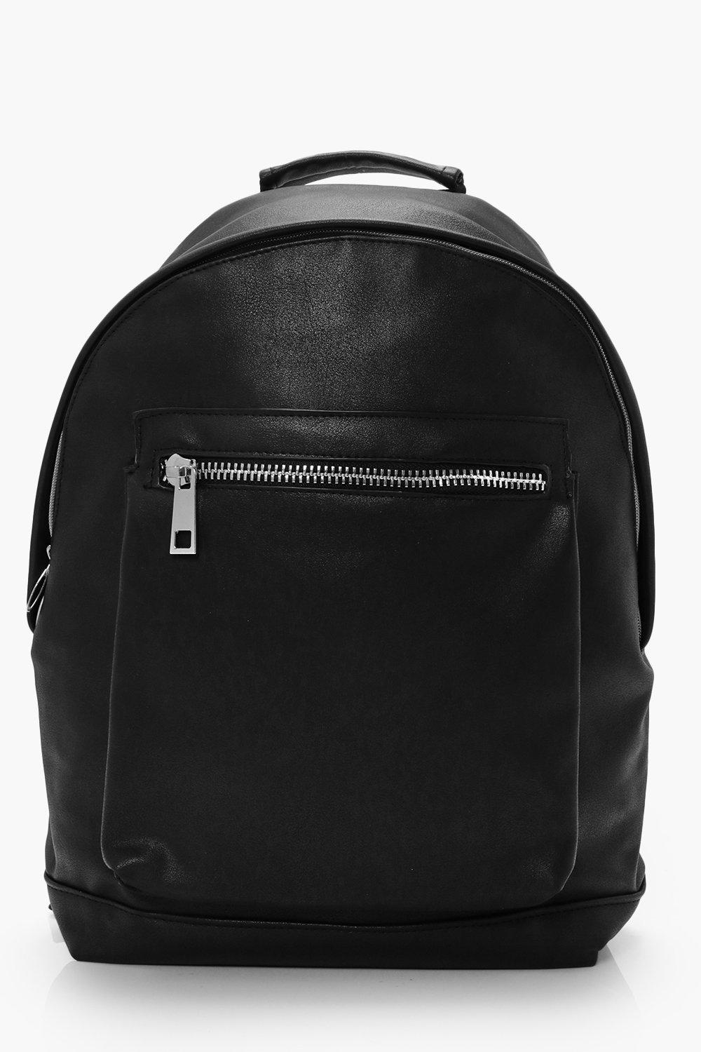 Look Back Pack With Chunky Zip - black - Leather L