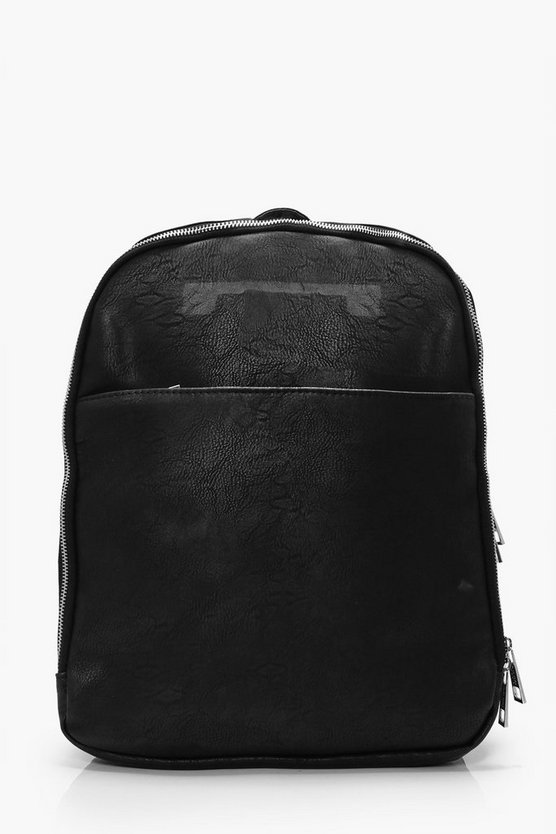 Leather Look Back Pack