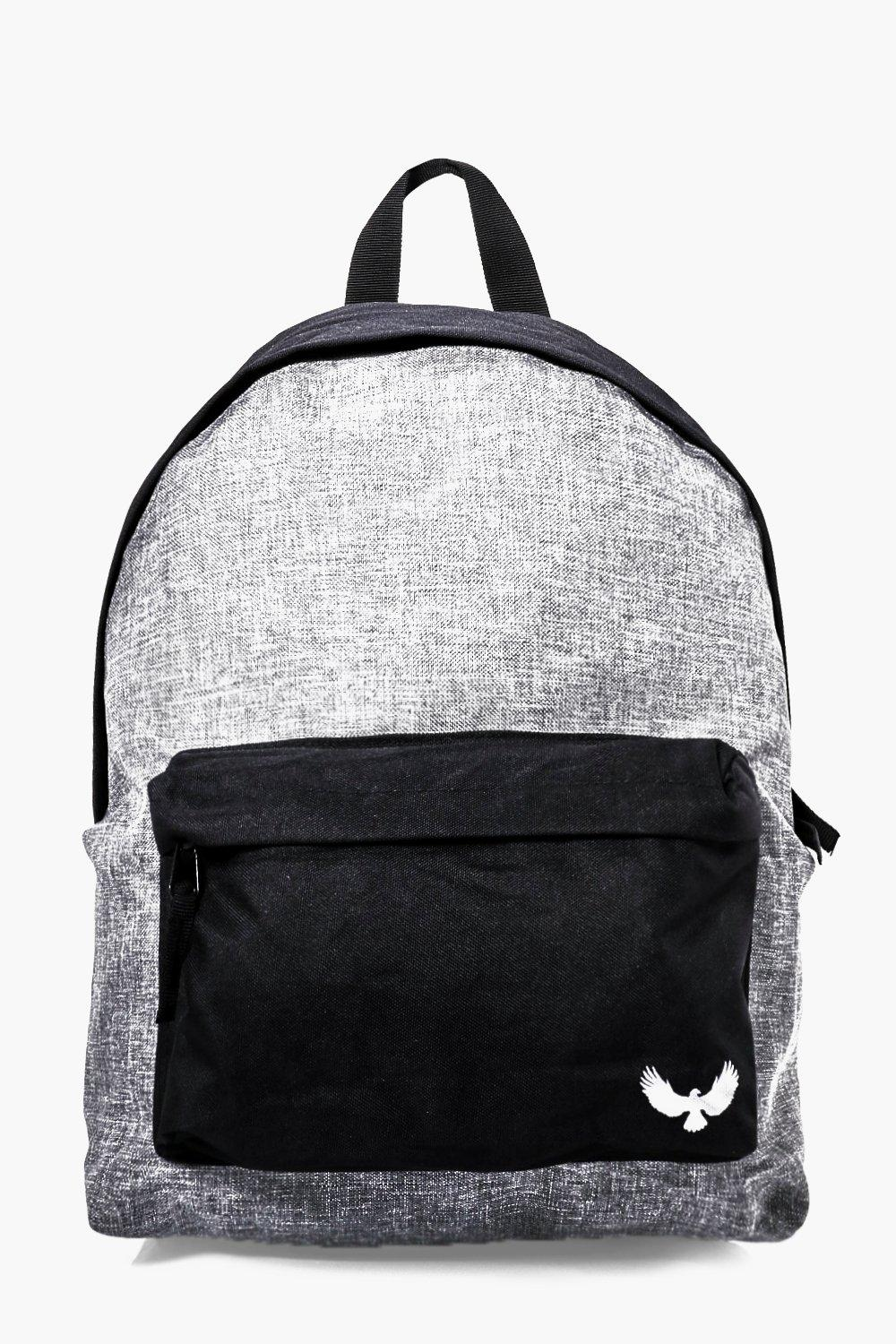 Contrast Panel Canvas Backpack - grey - Grey Contr